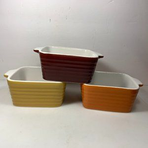 Other - Fall Harvest Small Bakers Dishes Set of 3